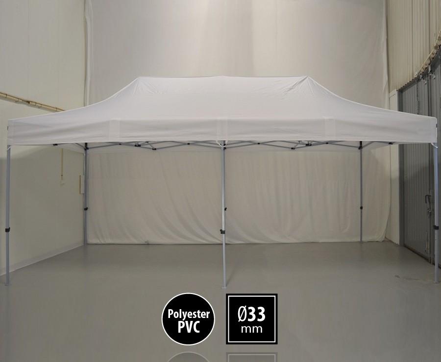 Tente pliante 3m x 6m semi-professionnelle blanc - SEMI-PRO sans murs