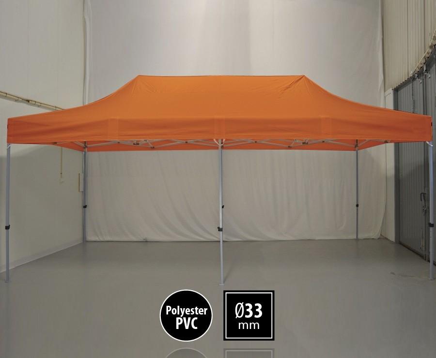 Tente pliante 3m x 6m semi-professionnelle orange - SEMI-PRO sans murs