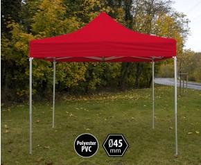 Tente pliante pas chère PVC rouge