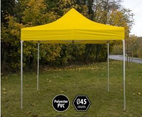 Tente pliante pas chère PVC jaune