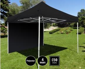 Tente pliante 3x3m loisirs acier et polyester