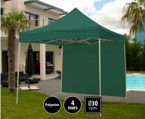 Tente pliante 3x3m loisirs couleur vert acier et polyester