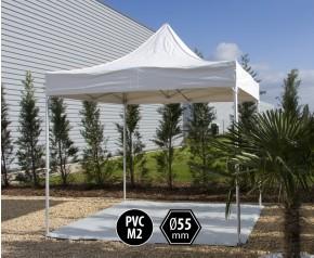 Tente pliante PRO+ 55 aluminium 3x3m blanc HD
