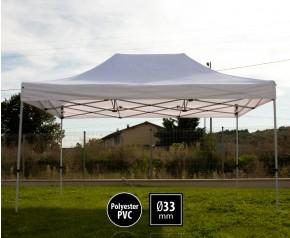Tente pliante SEMI PRO métal 3x4,5m blanc HD
