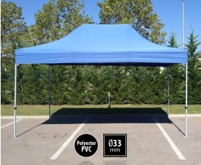 Tente pliante SEMI PRO métal 3x4,5m bleu HD