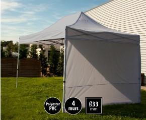 Tente semi-professionnelel 3x4,5m gris avec pack 4 murs HD