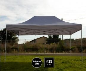 Tente pliante SEMI PRO métal 3x4,5m gris HD