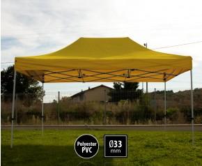 Tente pliante SEMI PRO métal 3x4,5m jaune HD