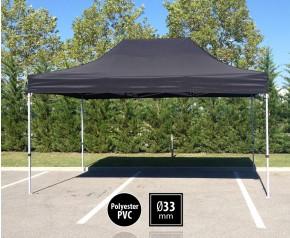 Tente pliante SEMI PRO métal 3x4,5m noir HD