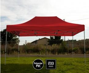 Tente pliante SEMI PRO métal 3x4,5m rouge HD