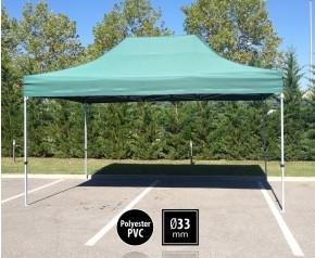 Tente pliante SEMI PRO métal 3x4,5m vert HD
