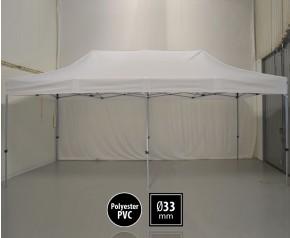 Tente pliante SEMI PRO métal 3x6m blanc HD