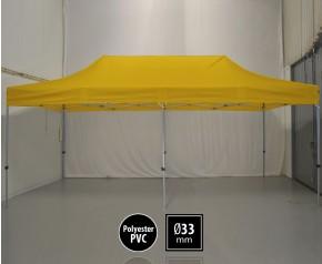 Tente pliante SEMI PRO métal 3x6m jaune HD