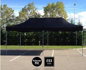 Tente pliante SEMI PRO métal 3x6m noir HD
