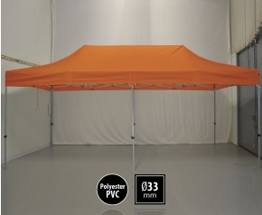 Tente pliante SEMI PRO métal 3x6m orange HD