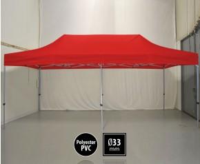 Tente pliante SEMI PRO métal 3x6m rouge HD