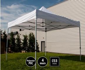 Tente pliante SEMI PRO métal 3x3m blanc HD sans murs