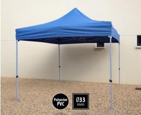 Tente pliante SEMI PRO métal 3x3m bleu HD sans murs