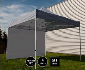 Tente pliante SEMI PRO métal 3x3m gris avec murs HD
