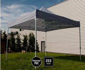 Tente pliante SEMI PRO métal 3x3m gris HD sans murs