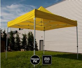 Tente pliante SEMI PRO métal 3x3m jaune HD sans murs