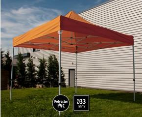 Tente pliante SEMI PRO métal 3x3m orange HD sans murs