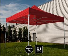 Tente pliante SEMI PRO métal 3x3m nrouge HD sans murs