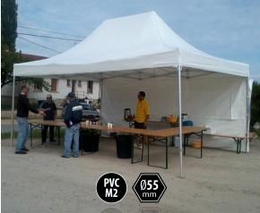 Tente pliante 4x6 gamme PRO+55 toit PVC 550g