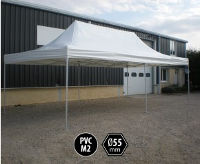 Tente pliante alu 4x8 toit PVC 550g/m²