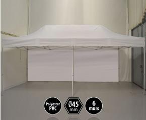 Tente PRO aluminium 3x6m blanc + 6 murs HD