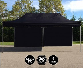 Tente PRO aluminium 3x6m noir + 6 murs HD