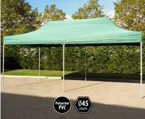 Tente pliante PRO aluminium 3x6m vert HD