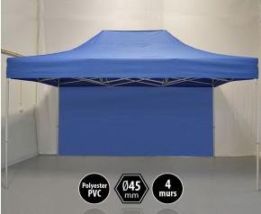 Tonnelle PRO aluminium 3x4,5m bleu + 4 murs HD