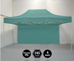 Tonnelle PRO aluminium 3x45m vert pack murs HD