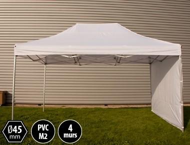 Tente pliante alu 3x4.5 blanc PRO+ 45 + 4 murs