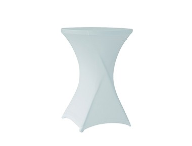 Housse lycra blanche table cocktail