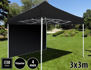 Tente pliante 3x3m loisirs acier et polyester mini