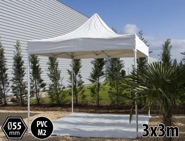Tente pliante PRO+ 55 aluminium 3x3m blanc