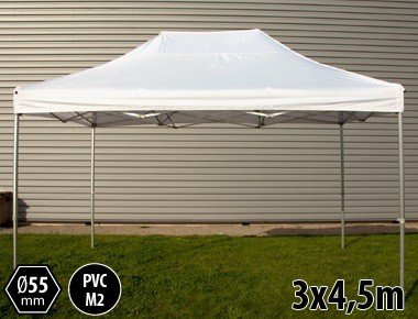 Tente pliante PRO+ 55 aluminium 3x4,5m blanc