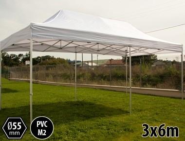 Tente pliante PRO+ 55 aluminium 3x6m blanc