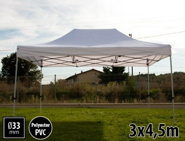 Tente pliante SEMI PRO métal 3x4,5m blanc