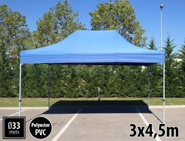 Tente pliante SEMI PRO métal 3x4,5m bleu