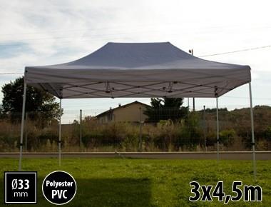 Tente pliante SEMI PRO métal 3x4,5m gris