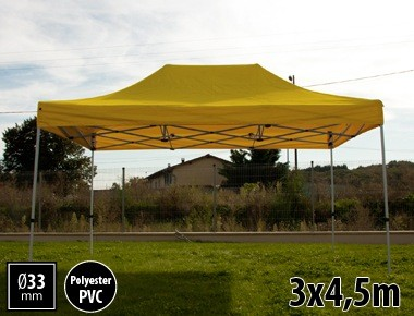 Tente pliante SEMI PRO métal 3x4,5m jaune