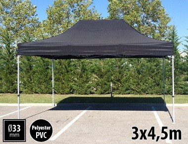 Tente pliante SEMI PRO métal 3x4,5m noir