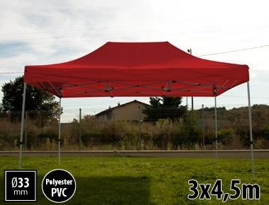 Tente pliante SEMI PRO métal 3x4,5m rouge
