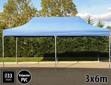 Tente pliante SEMI PRO métal 3x6m bleu