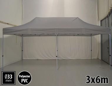 Tente pliante SEMI PRO métal 3x6m gris