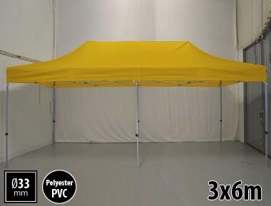 Tente pliante SEMI PRO métal 3x6m jaune