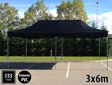 Tente pliante SEMI PRO métal 3x6m noir